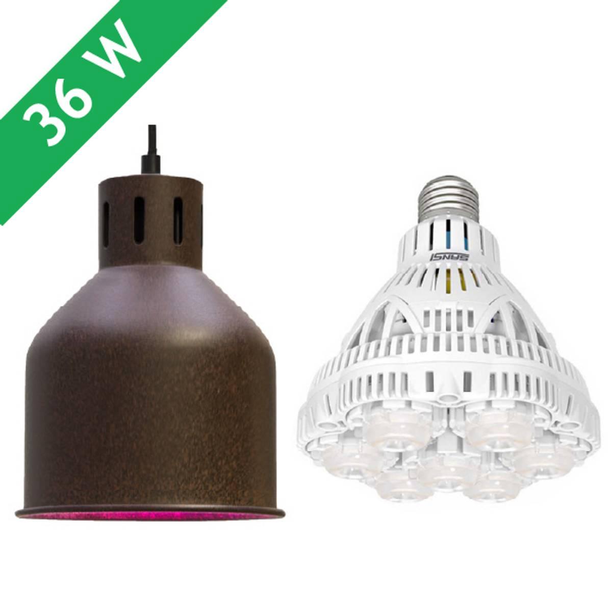 Saga armatur 'rust' med LED-pære 36 W